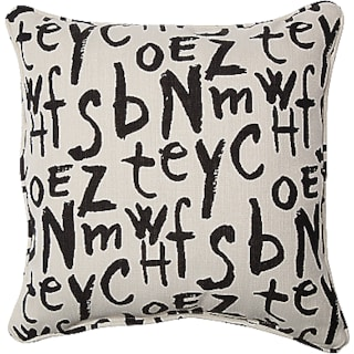 American Grafitti 2-Piece Accent Pillows - American Grafitti Raven