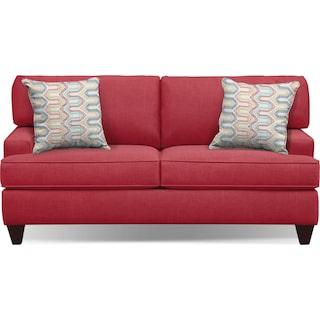 "Conner Red 75"" Memory Foam Sleeper Sofa"