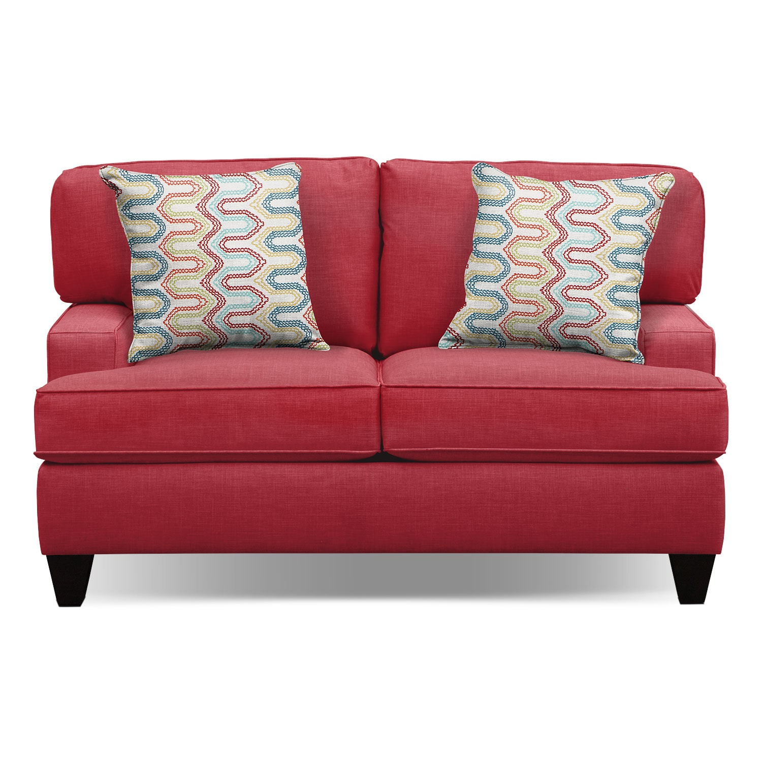 "Living Room Furniture - Conner Red 63"" Memory Foam Sleeper Sofa"