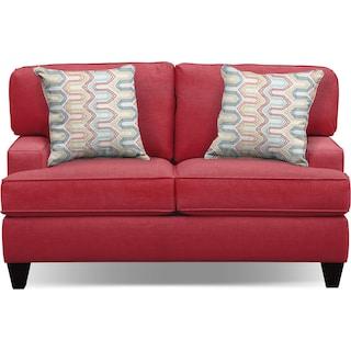 "Conner Red 63"" Memory Foam Sleeper Sofa"