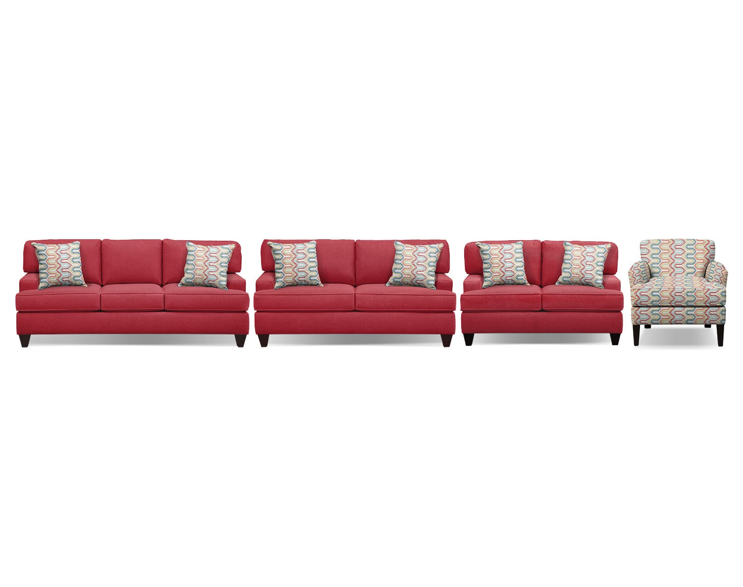 The Conner Red Living Room Collection