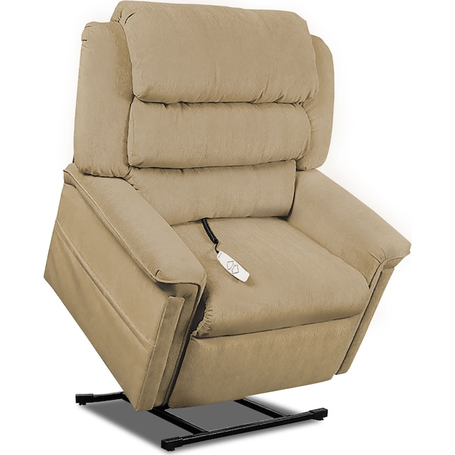 Living Room Furniture - Sally Lift Chair - Camel