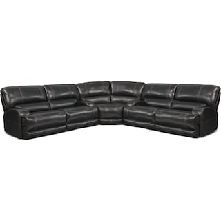 Barton 3-Piece Power Reclining Sectional - Black