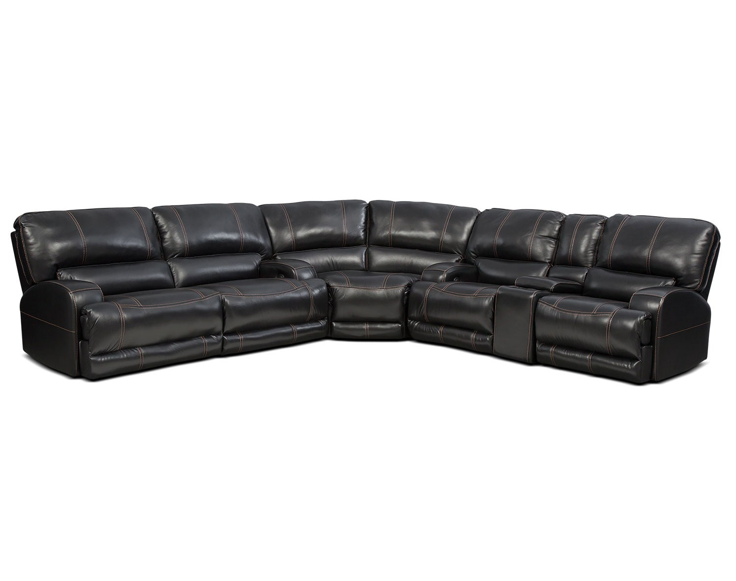 The Barton Sectional Collection - Black