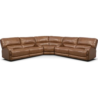 Barton 3-Piece Power Reclining Sectional - Camel