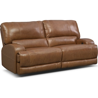 Barton Power Reclining Sofa - Camel