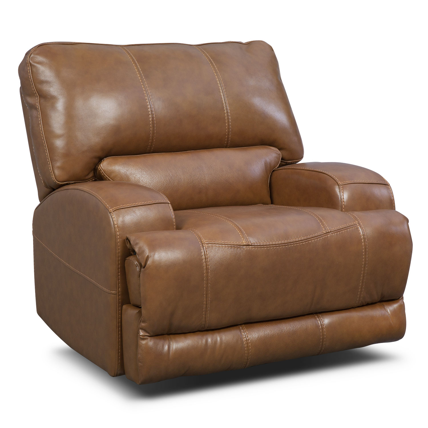Living Room Furniture - Barton Camel Living Room Power Recliner