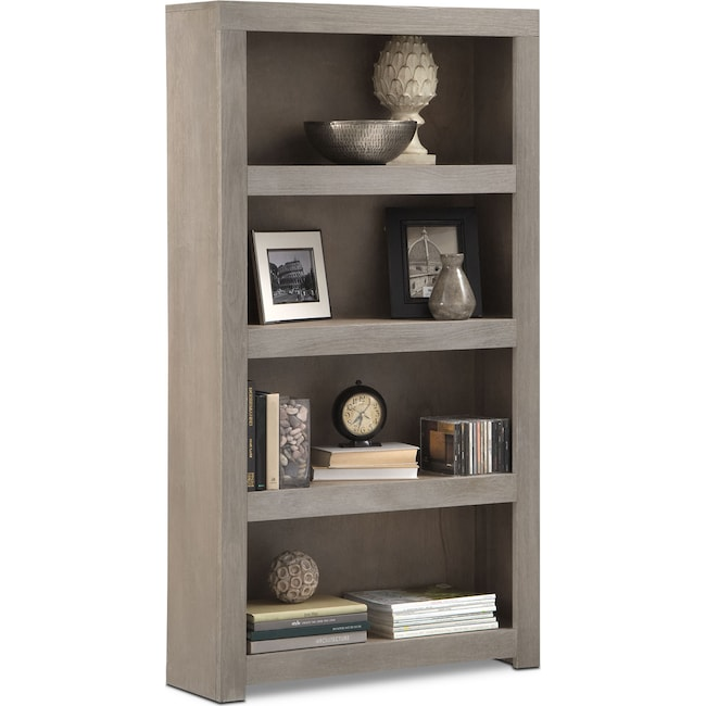 "Accent and Occasional Furniture - Bricklin 60"" Bookcase - Driftwood"