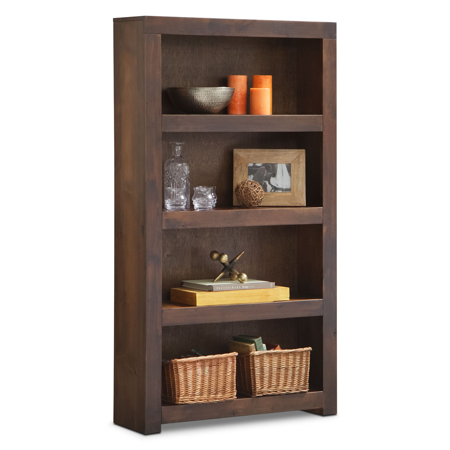 "Home Office Furniture - Bricklin 60"" Bookcase - Tobacco"