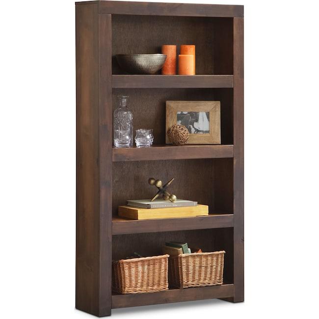 """Home Office Furniture - Bricklin 60"""" Bookcase - Tobacco"""