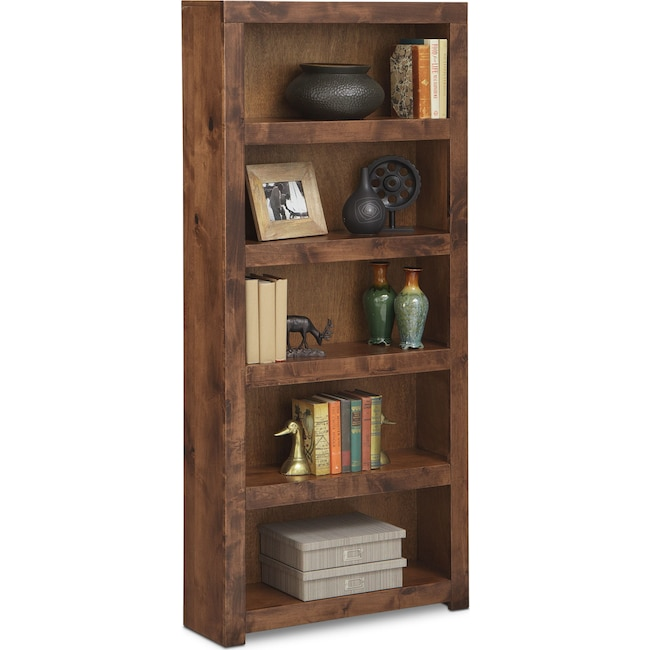 "Home Office Furniture - Bricklin 72"" Bookcase - Fruitwood"