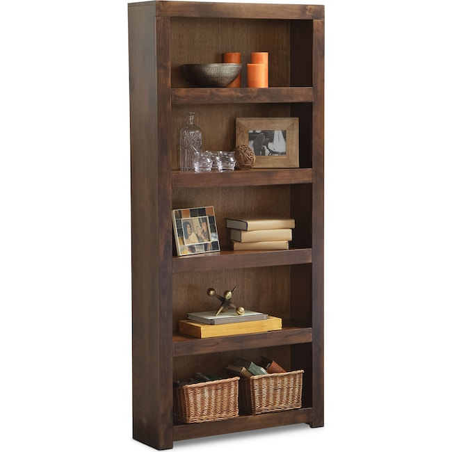 "Home Office Furniture - Bricklin 72"" Bookcase - Tobacco"