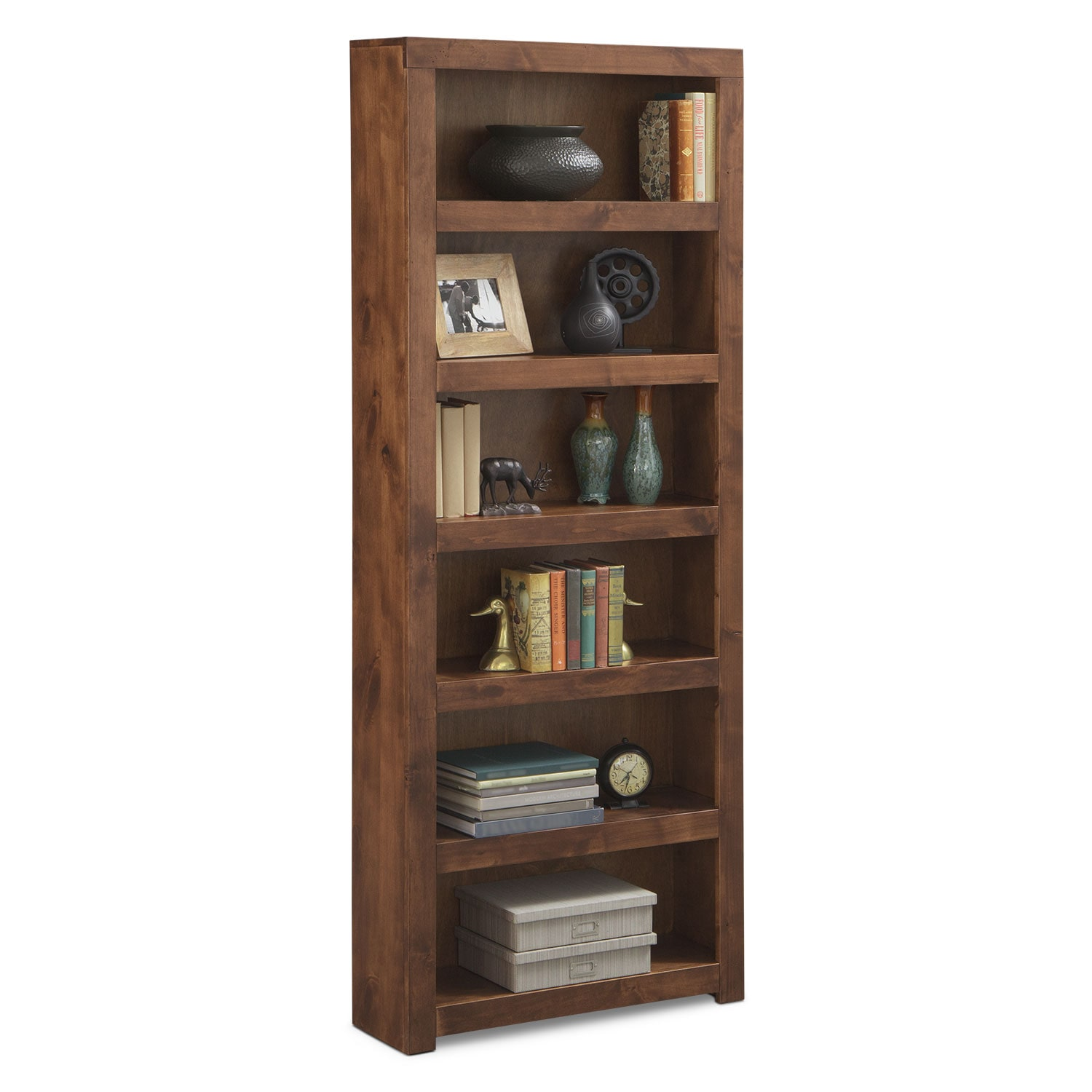 "Bricklin 84"" Bookcase - Fruitwood"