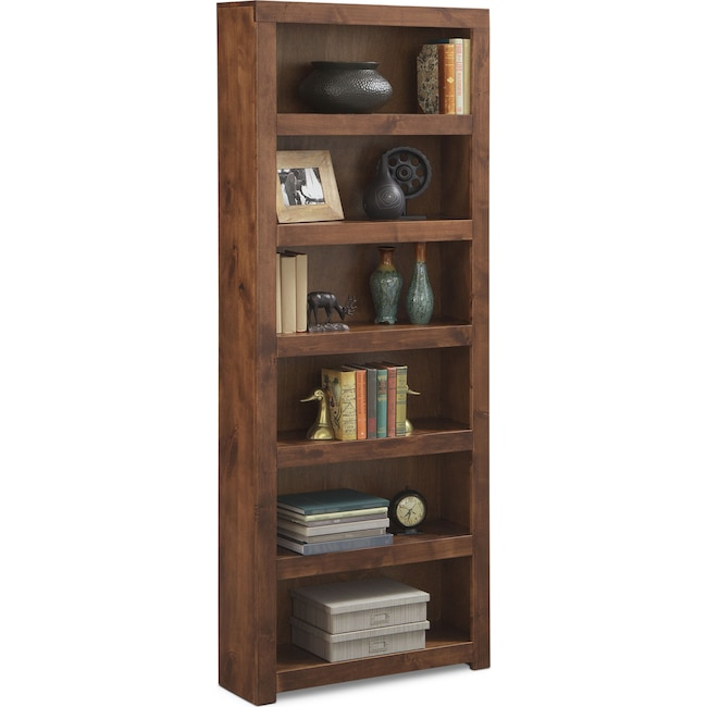 "Home Office Furniture - Bricklin 84"" Bookcase - Fruitwood"