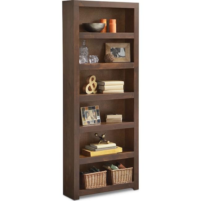 """Home Office Furniture - Bricklin 84"""" Bookcase - Tobacco"""