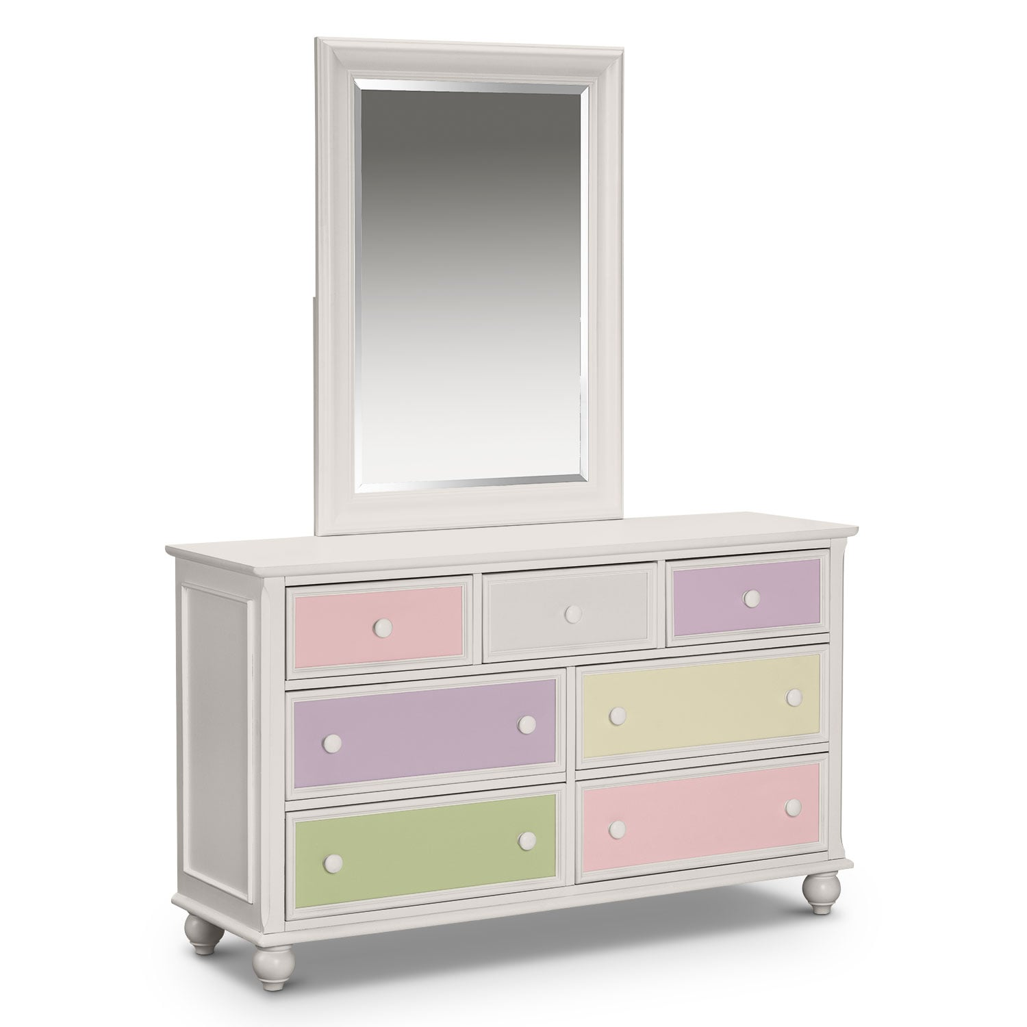 Kids Furniture - Colorworks Dresser and Mirror