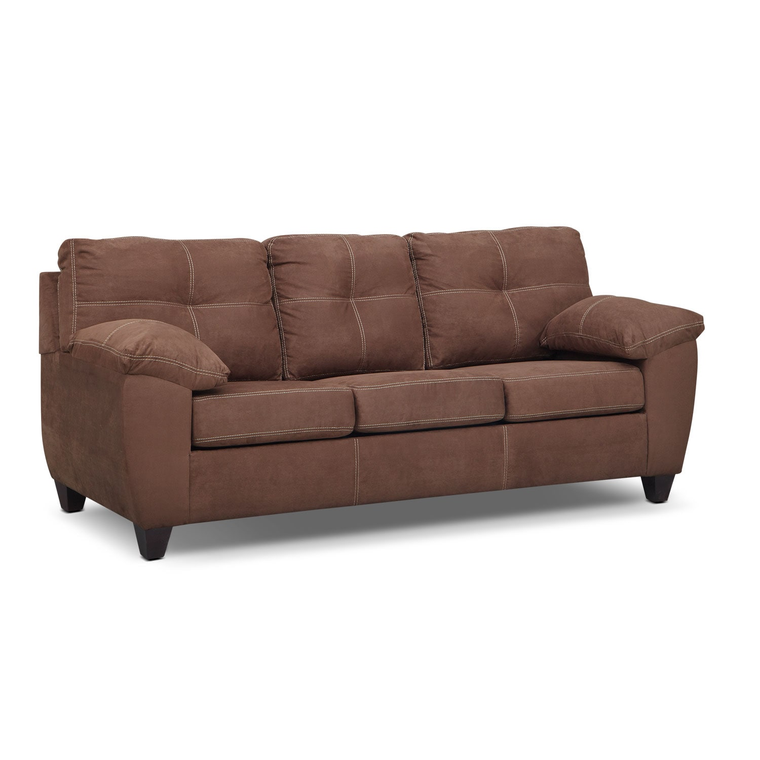 Ricardo Queen Memory Foam Sleeper Sofa Coffee American Signature Furniture