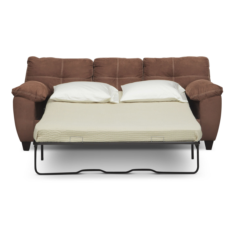 Ricardo Queen Memory Foam Sleeper Sofa Coffee American