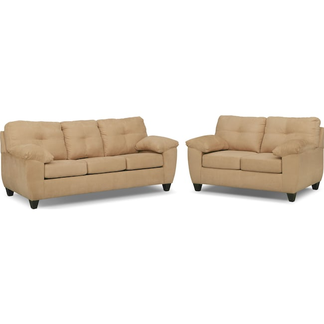 Ricardo Queen Memory Foam Sleeper Sofa And Loveseat Set