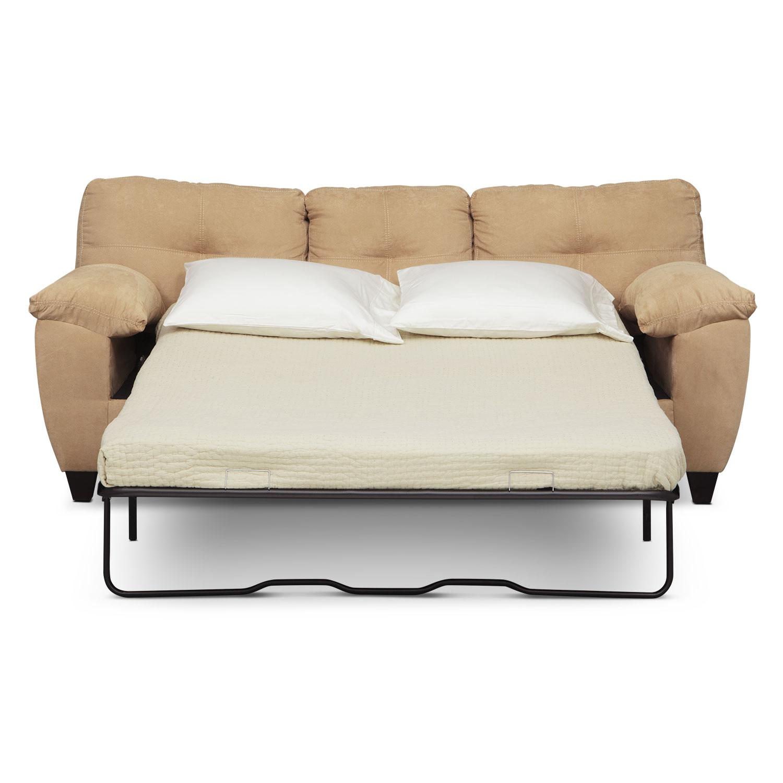 Memory Foam Sleeper Sofa: Ricardo Queen Memory Foam Sleeper Sofa - Camel
