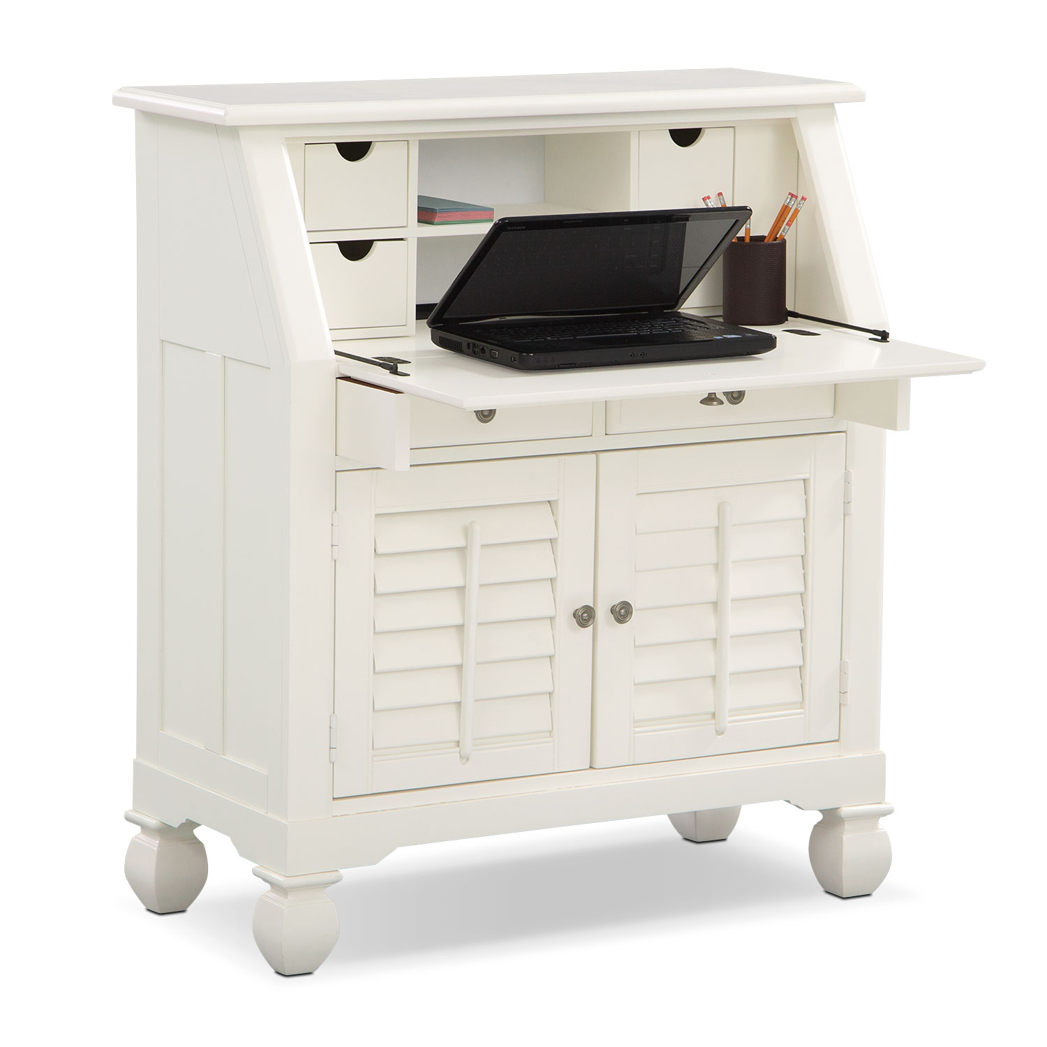 Plantation Cove Laptop Desk - White