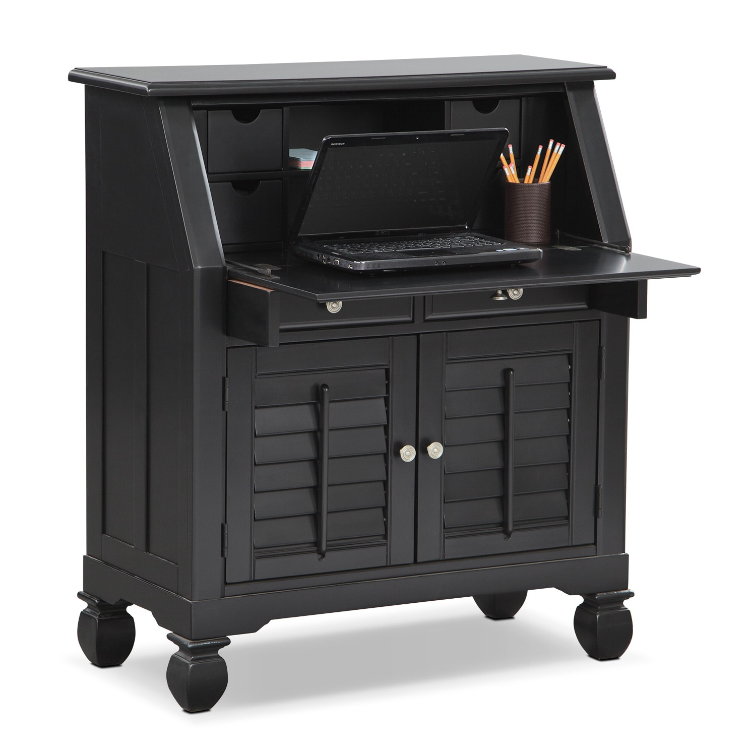 Plantation Cove Laptop Desk - Black