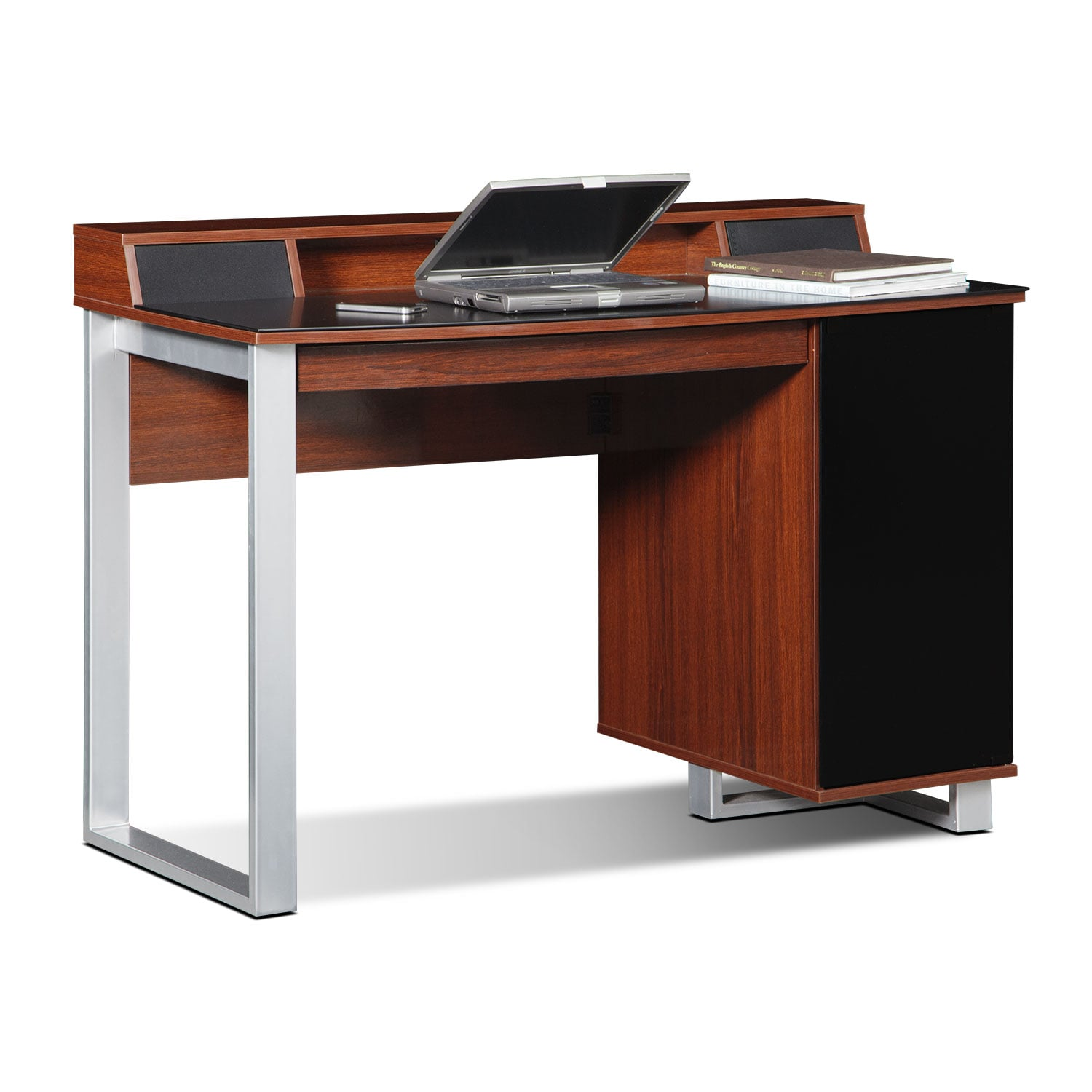 Pacer Home Office Desk With Sound Cherry