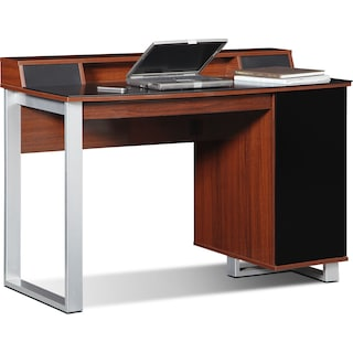 Pacer Home Office Desk with Sound - Cherry