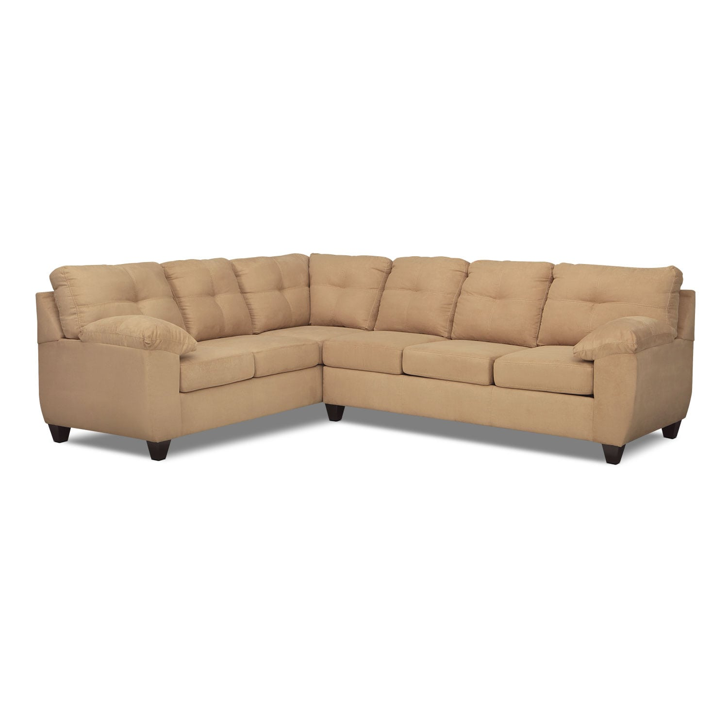 Ricardo 2 Piece Memory Foam Sleeper Sectional With Left