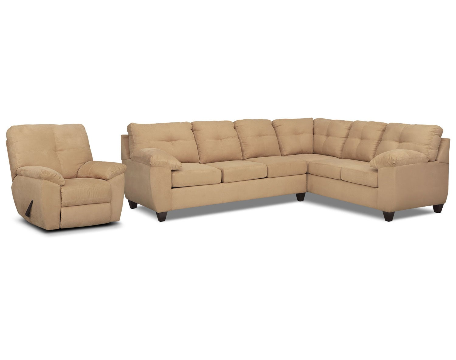 The Rialto Camel Sectional Collection