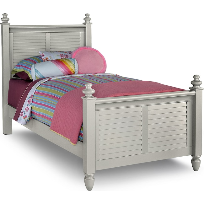 Kids Furniture - Seaside Twin Bed - Gray