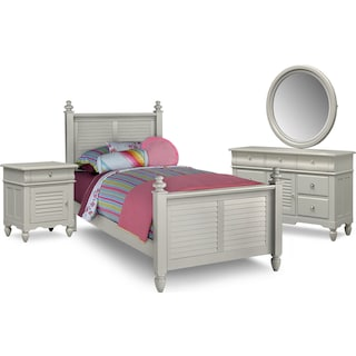 Seaside 6-Piece Full Bedroom Set - Gray