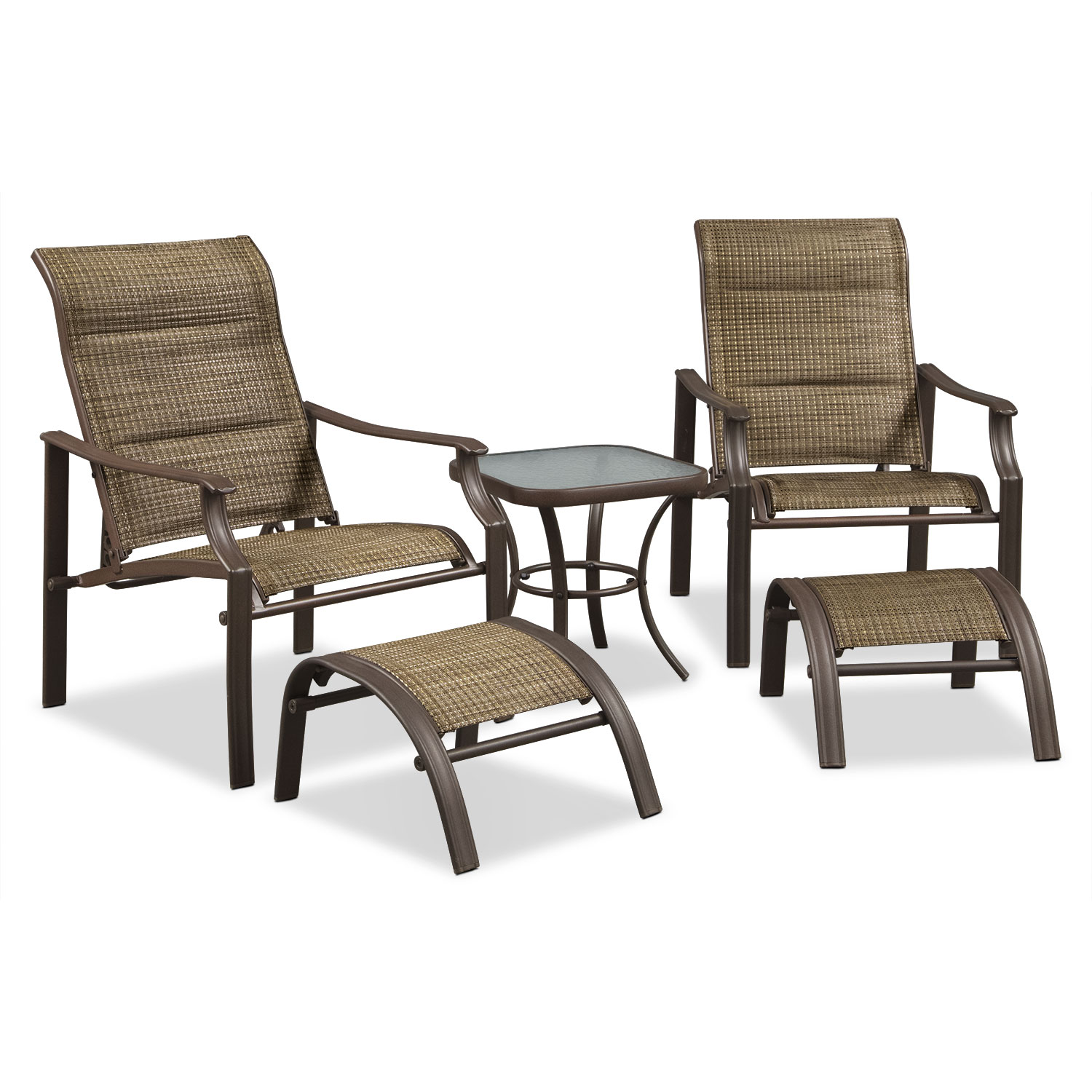 Outdoor Furniture - Terrace 5 Pc. Chat Set