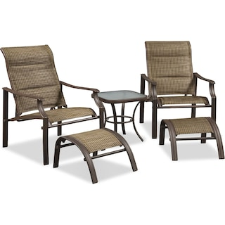 Terrace 5-Piece Outdoor Chat Set - Brown