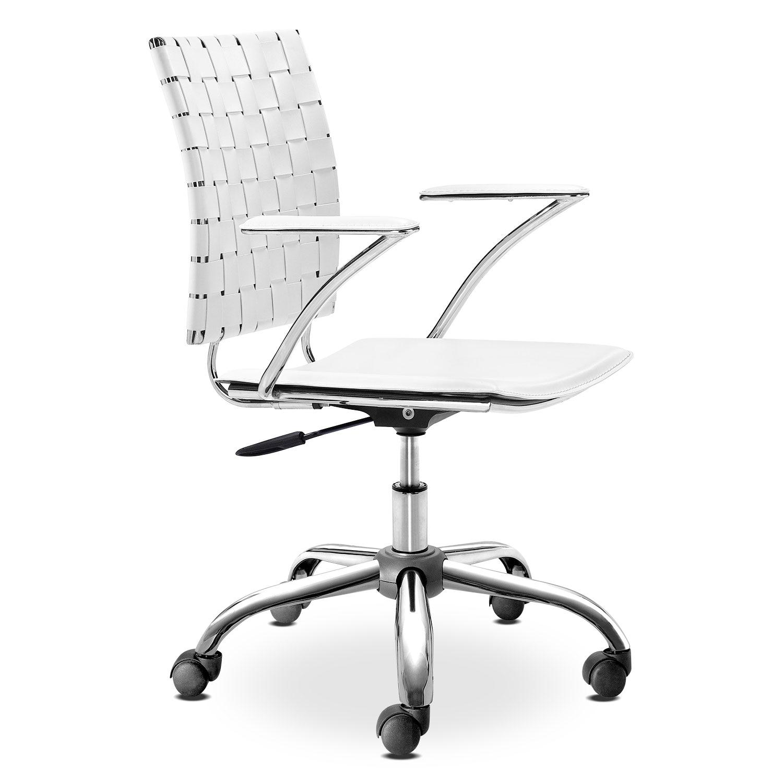 Zeno Office Arm Chair - White