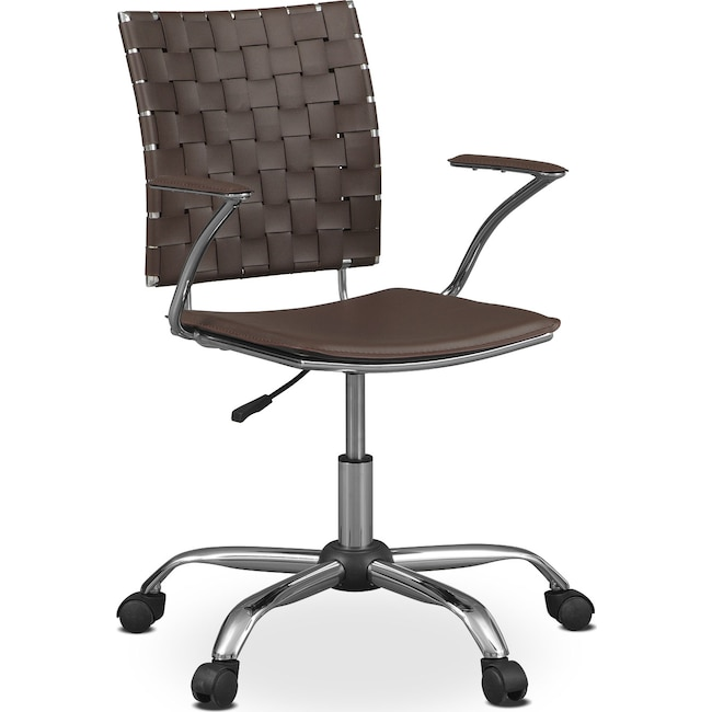 Home Office Furniture - Zeno Office Arm Chair - Brown