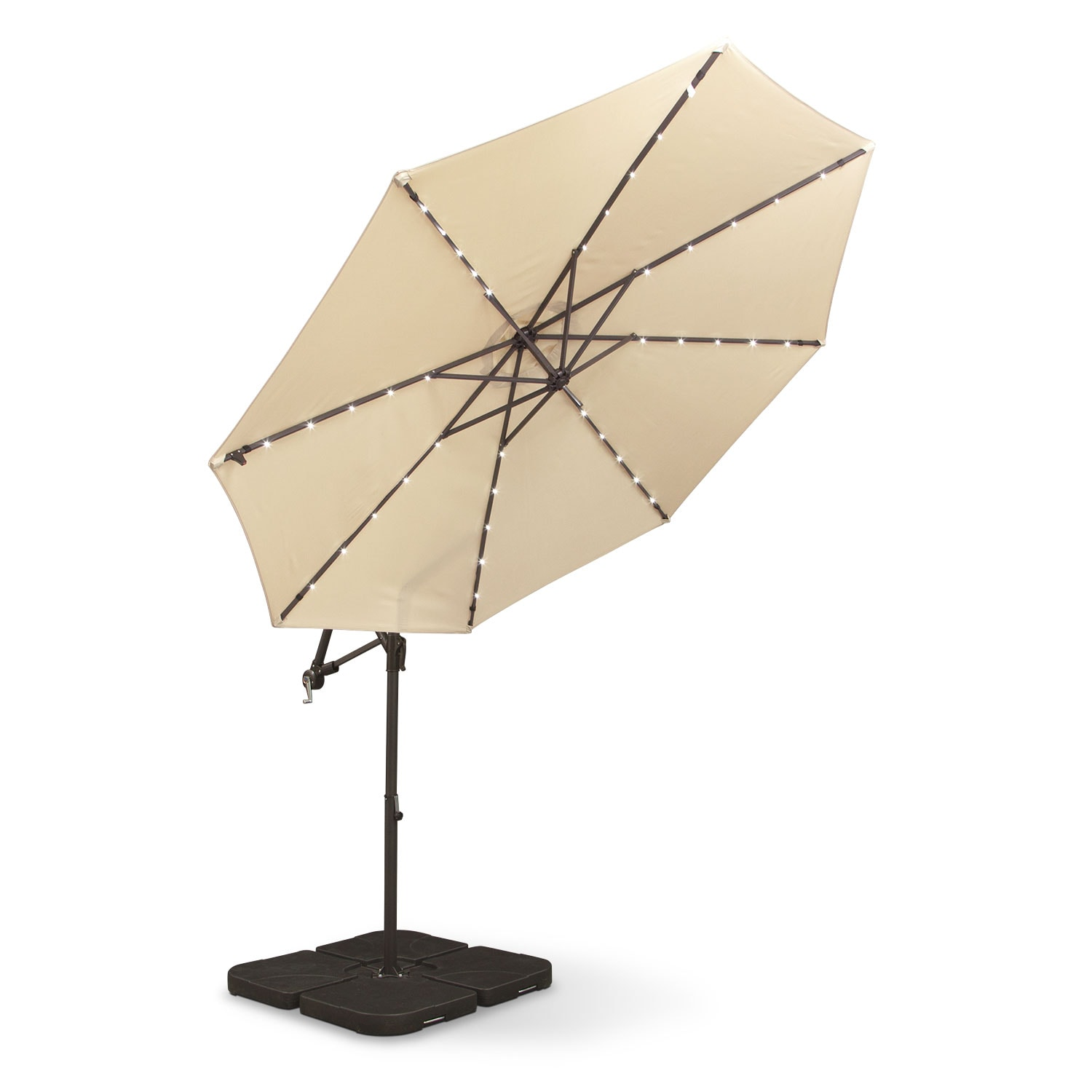 Sundowner Solar Umbrella with Base