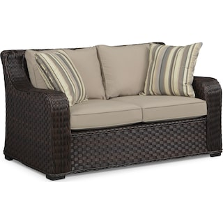 Doral Outdoor Loveseat - Tan