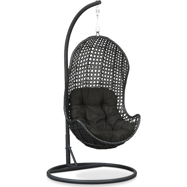 Outdoor Furniture - Kona Outdoor Egg Chair - Black