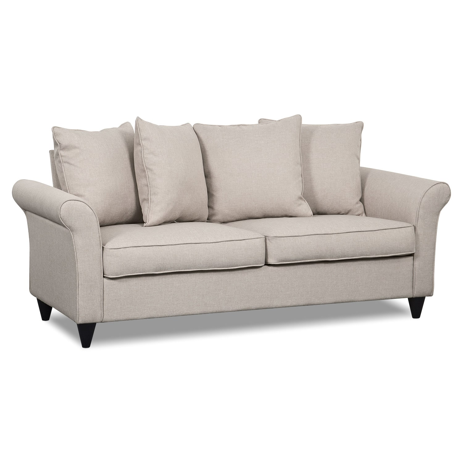 Living Room Furniture - Denton Sofa - Beige