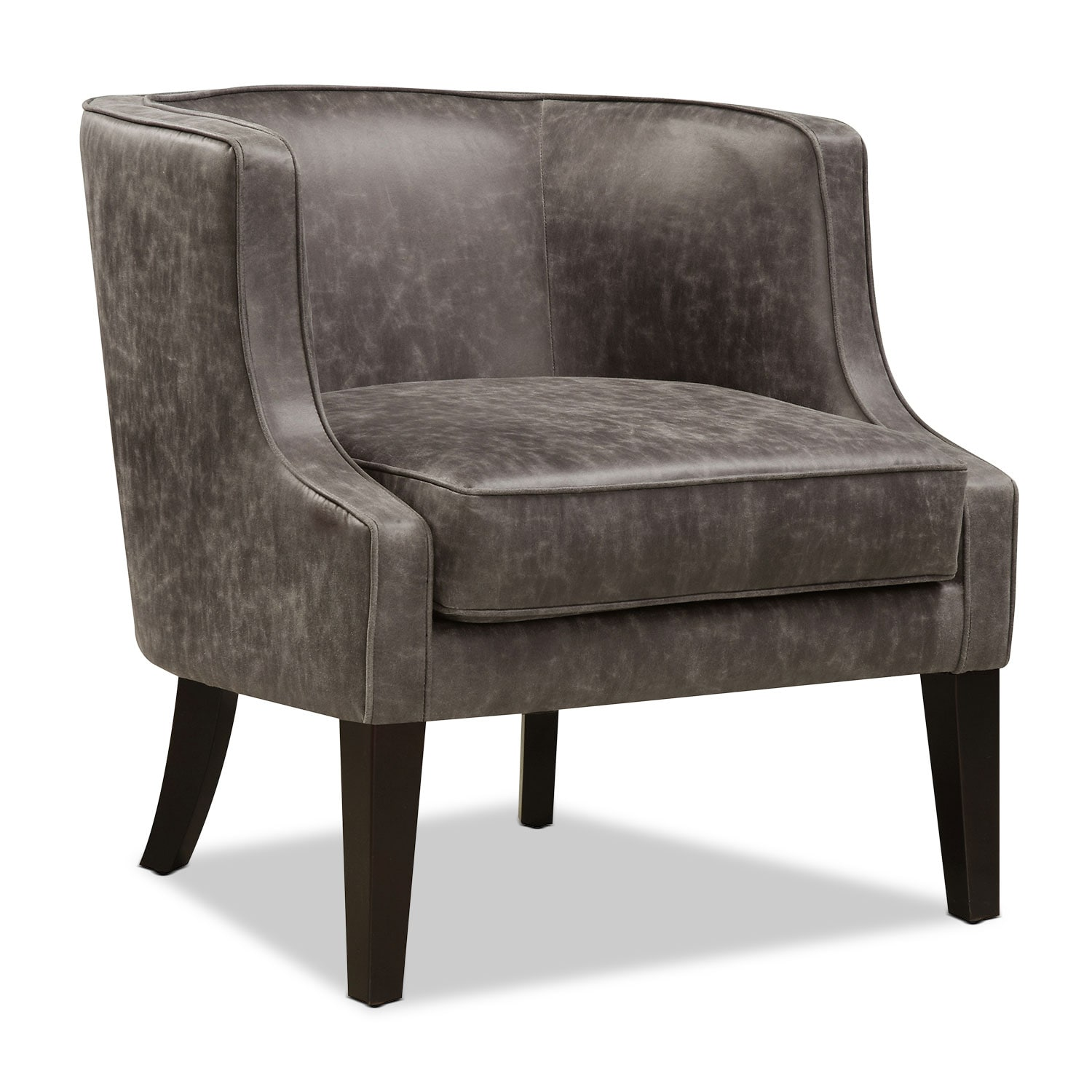Living Room Furniture - Casey Accent Chair - Gray