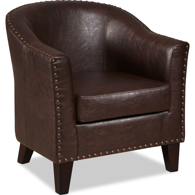 Accent and Occasional Furniture - Brogan Accent Chair - Brown