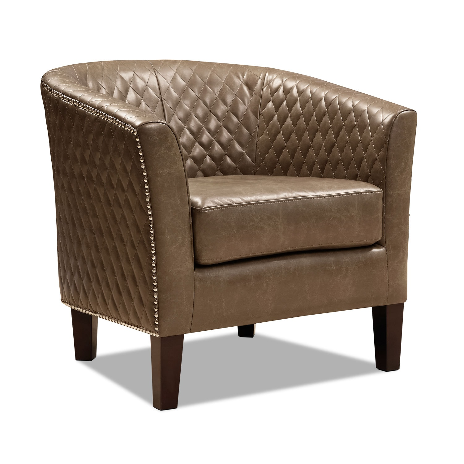 Living Room Furniture - Luxor Accent Chair - Brown