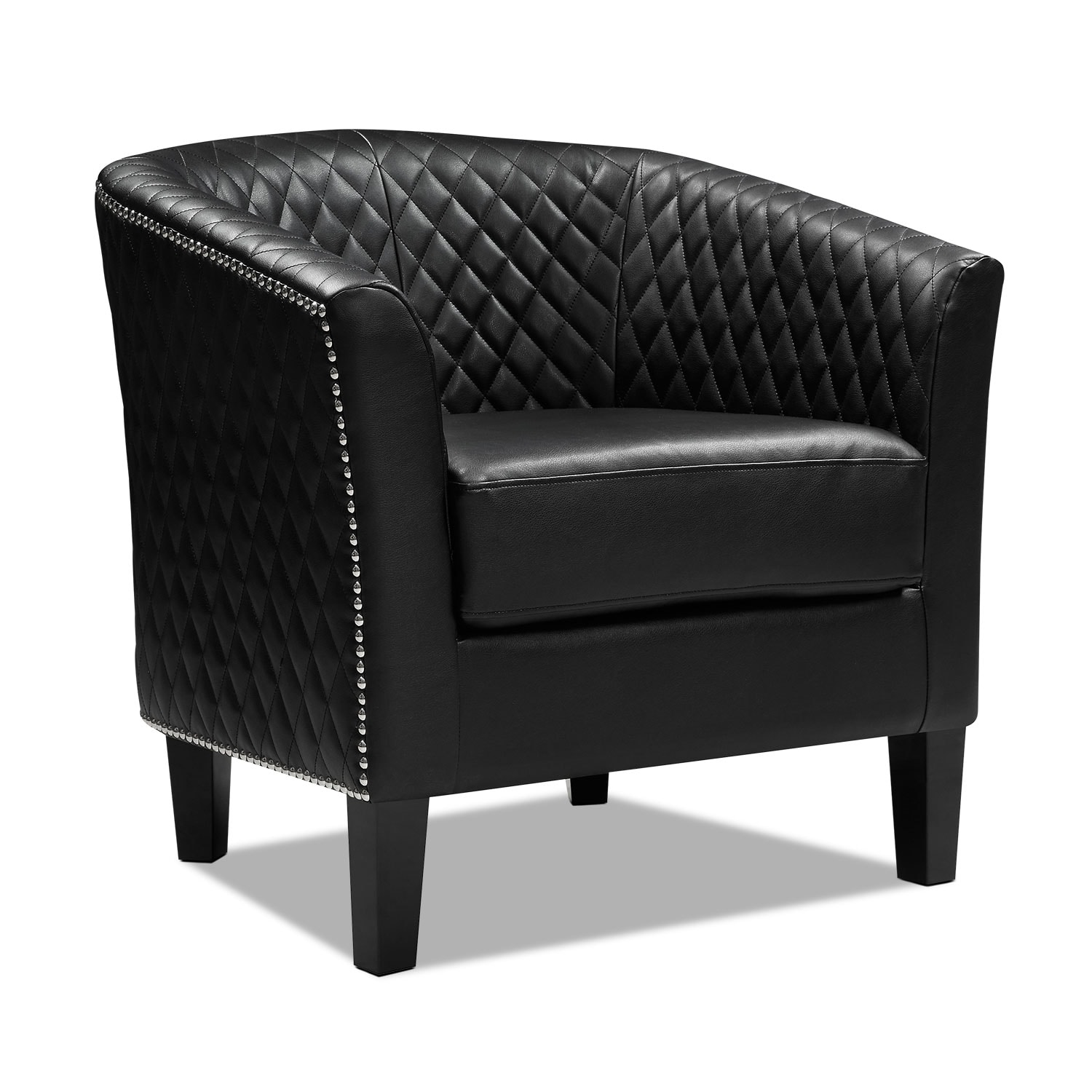 Living Room Furniture - Luxor Accent Chair - Black