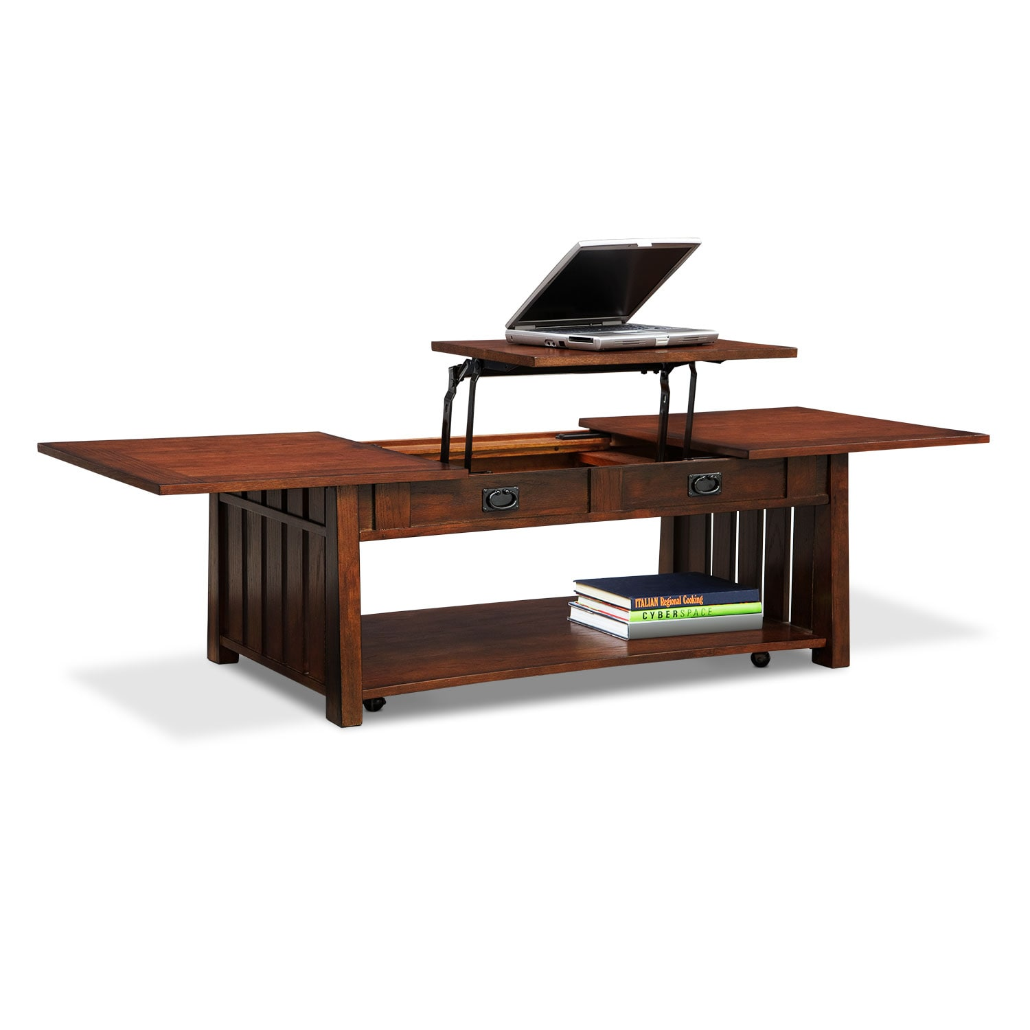 Lift Top Coffee Table Cherry: Tribute Lift-Top Coffee Table - Cherry