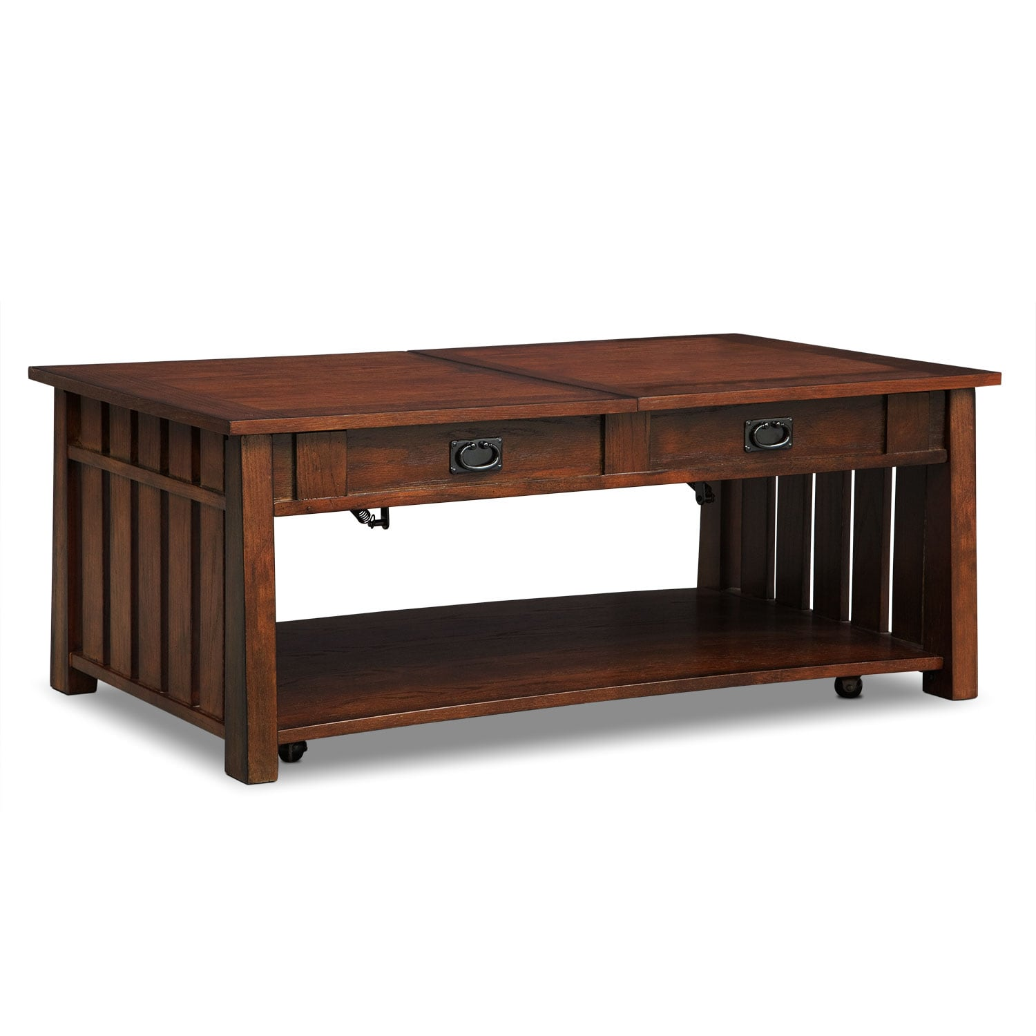 Dual Lift Top Coffee Table Tribute Lift Top Cocktail Table Cherry American Signature