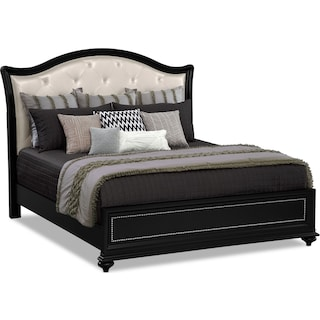 Marilyn King Bed - Ebony
