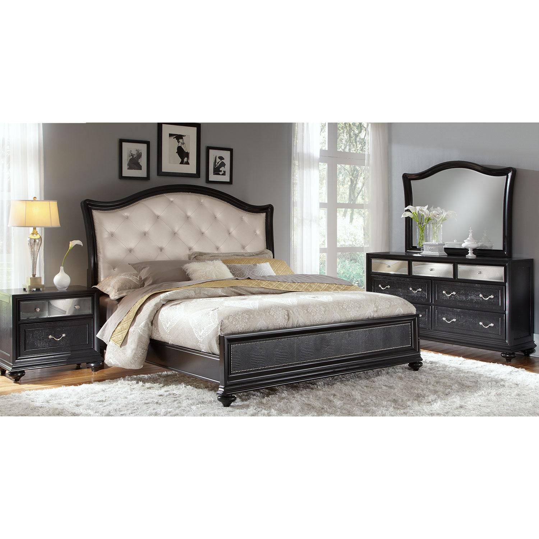 Marilyn 6 Piece King Bedroom Set Ebony
