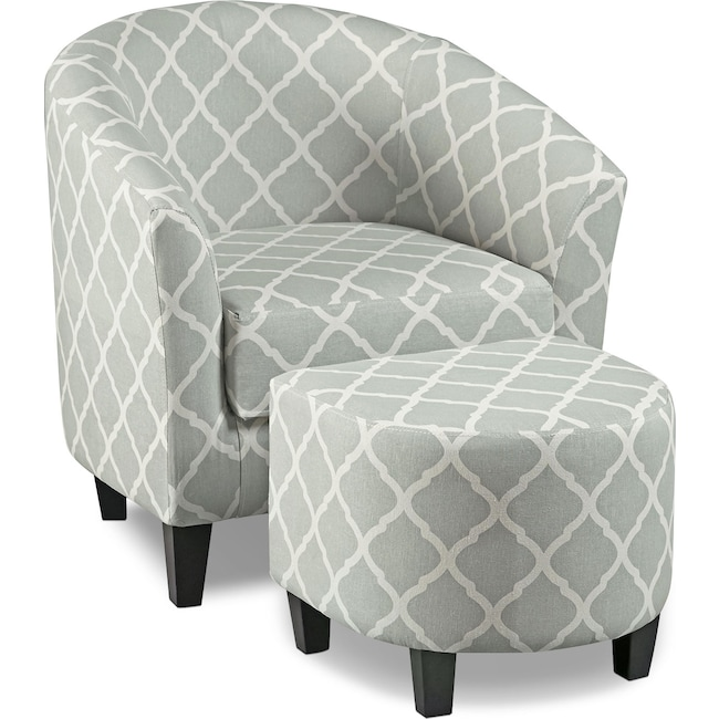 Living Room Furniture - Sperrie Accent Chair with Ottoman