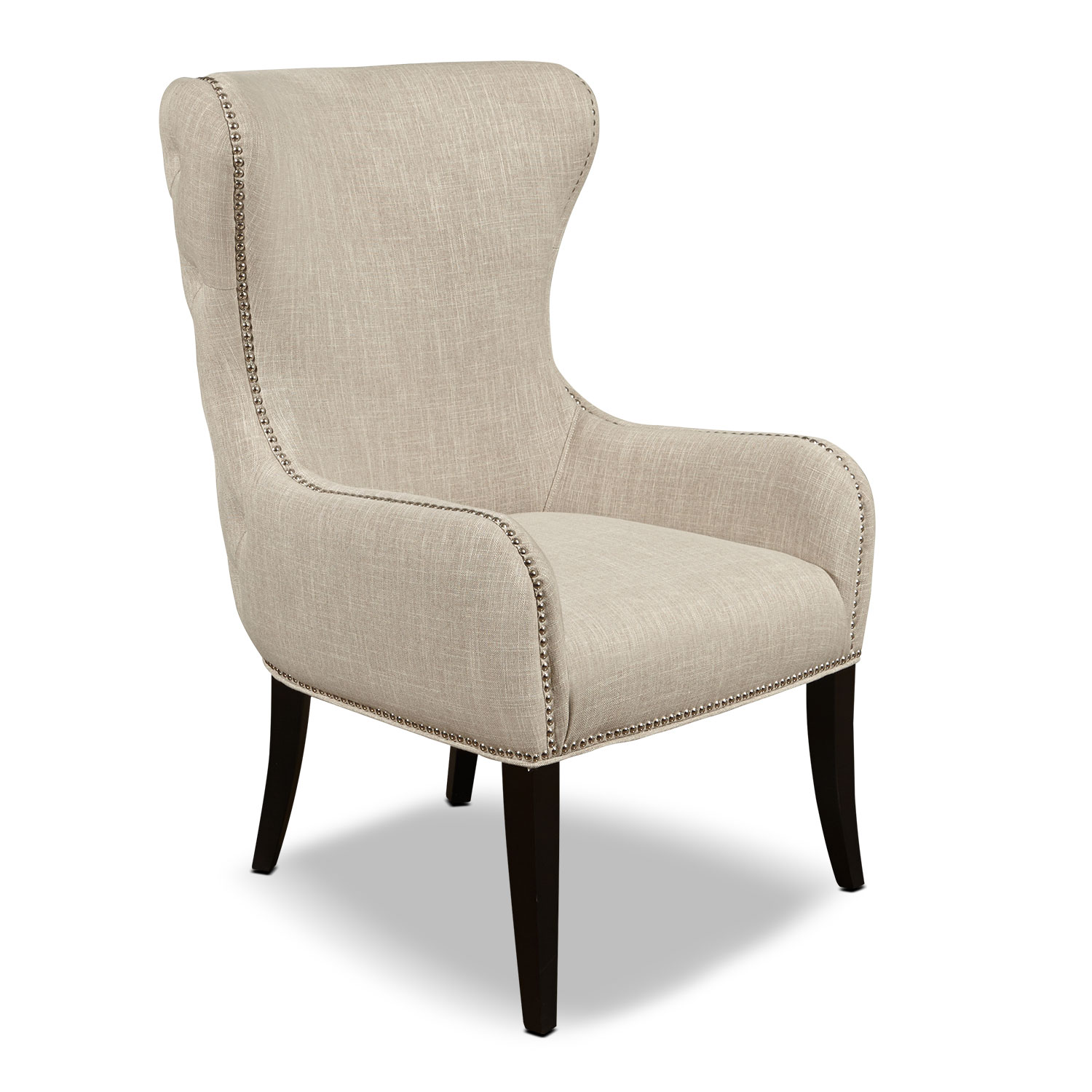 Living Room Furniture - Crossett Accent Chair - Beige